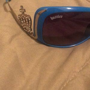 Hustler Hollywood Accessories - Authentic hustler oversized sunglasses blue